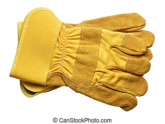 Protective gloves, isolated on white