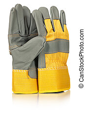 Protective gloves - New protective gloves for worker on a...