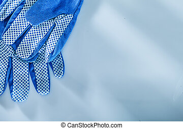 Protective gloves on white background.