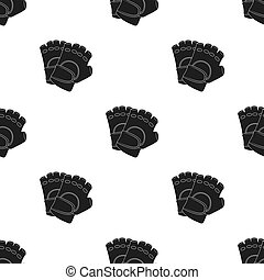 Protective gloves. Paintball single icon in black style vector symbol stock illustration web.