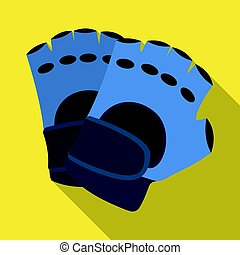 Protective gloves. Paintball single icon in flat style vector symbol stock illustration web.