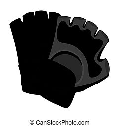 Protective gloves. Paintball single icon in monochrome style vector symbol stock illustration web.