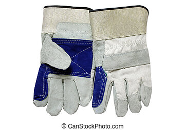 Protective gloves - Pair of protective gloves isolated over...