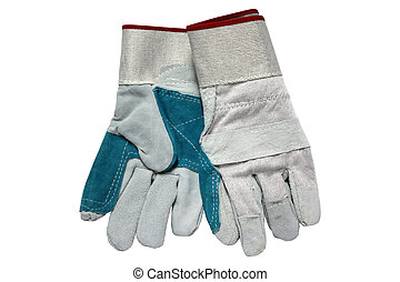 Protective gloves - Pair of leather protective gloves...