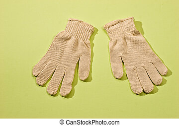 protective gloves - house series: protective white textile...