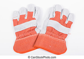 Protective gloves - Close up Industrail Protective gloves...