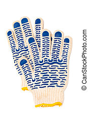protective gloves - fabric protective gloves on a white...