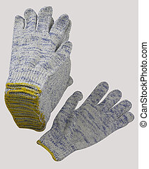 Protective gloves with clipping path