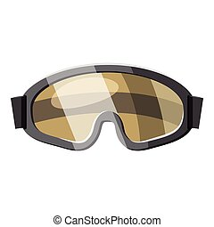 Protective goggles for paintball icon