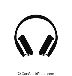 Protective headphones icon, simple style - Protective...