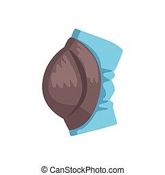 Protective knee pad cartoon vector Illustration