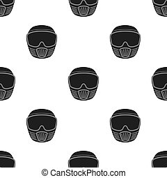 Protective mask. Paintball single icon in black style vector symbol stock illustration web.