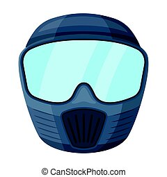 Protective mask. Paintball single icon in cartoon style vector symbol stock illustration .