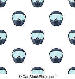 Protective mask. Paintball single icon in cartoon style vector symbol stock illustration web.