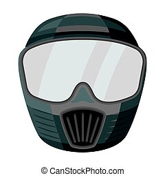 Protective mask. Paintball single icon in monochrome style vector symbol stock illustration web.