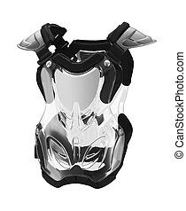 protective suit of armor isolated