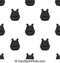 Protective waistcoat. Paintball single icon in black style vector symbol stock illustration web.