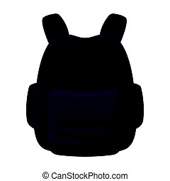 Protective waistcoat. Paintball single icon in cartoon style vector symbol stock illustration web.