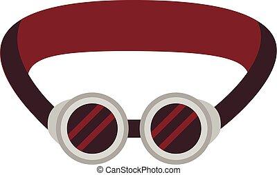 Protective welding goggles icon