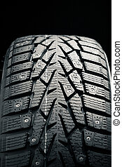 protector and snow spikes of winter tire