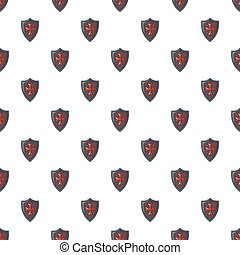 protector, clásico, patrón,  seamless, cruz, rojo