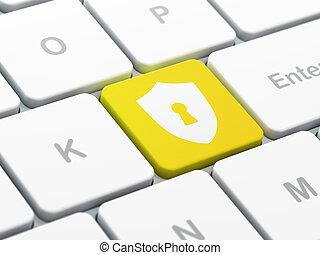 protector, computadora, seguridad, plano de fondo, teclado, ojo de la cerradura, concept:
