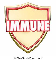 protector, oro, seguro, enfermedad, inmune, protección del virus, immunity, riesgo