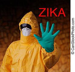 protector, virus, clothes., zika, trabajador médico