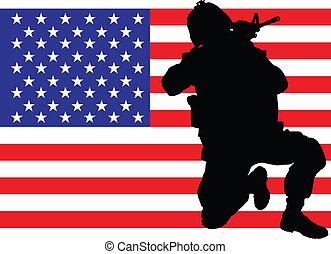 protegendo, bandeira