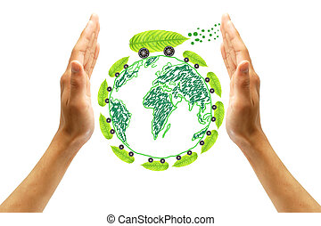 proteger, concepto, ambiente