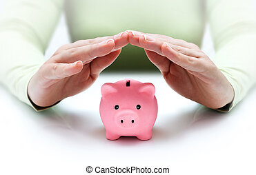 proteger, su, ahorros, -, con, manos