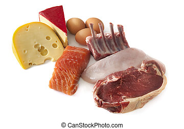 Protein Foods - Sources of protein, including cheese, eggs,...