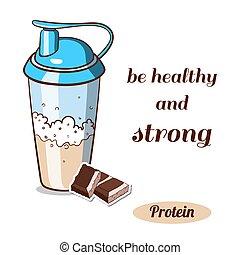 Protein Shaker Chocolate