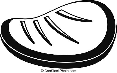 Protein steak icon, simple style