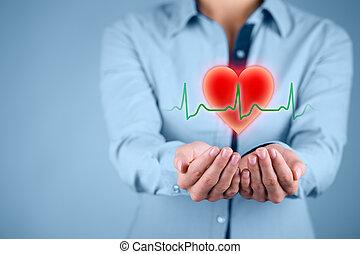 proteja, coração, cuidados de saúde
