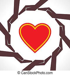 proteja, coração humano