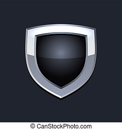 proteja, escudo, ícone, vetorial