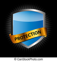 proteja, escudo, vetorial, ilustração