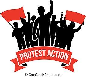 Protest Action Emblem