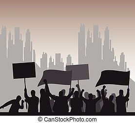 Protest Background vector illustration