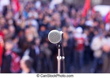 protest., demonstration., politique