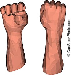 Protest fist for low poly illustrations