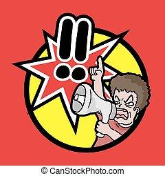 Protest icon - Creative design of Protest icon