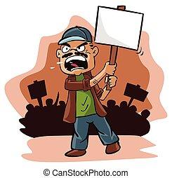 Protest man