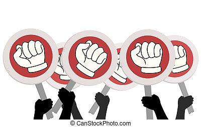 Protest rebel - Design of many rebel signs