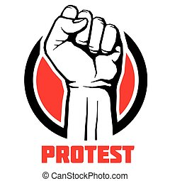 Protest, rebel vector revolution art poster, background