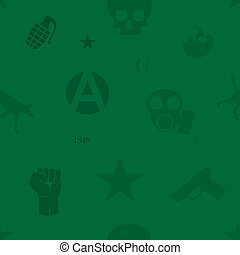Protest seamless pattern green