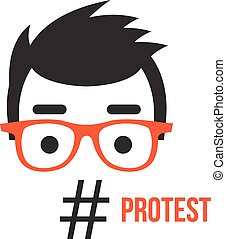Protest, social network flashmob ac