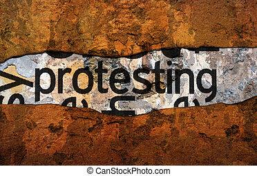 protesta, concepto
