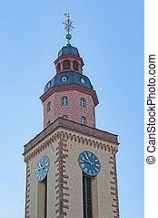 protestant, antena, catherine, święty, kościół, wieża,...